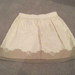 Club Monaco Eyelet Skirt